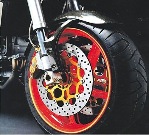 4r Motorrad Felgenbänder Felgenrandaufkleber Schwarz Reflektierend Auto