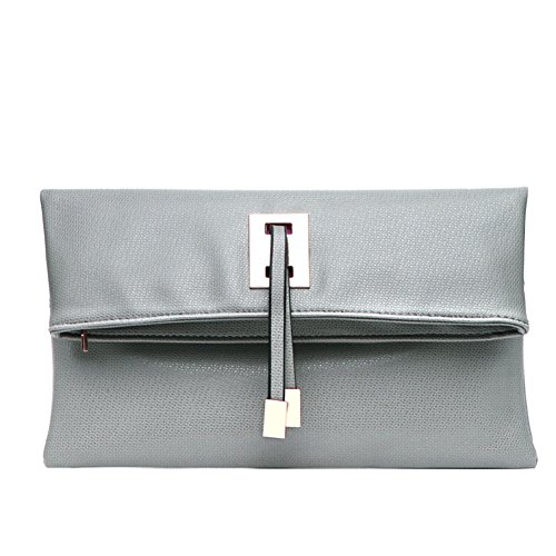 Abshoo Women Clutch Purse Evening Faux Leather Clutch Bags (Light Grey)