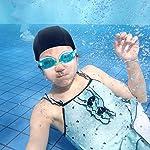 SATINIOR-8-Pezzi-Cuffia-da-Nuoto-in-Nylon-Uomo-e-Donna-Tessuto-Spandex-Puro-Nero-Cappello-da-Nuoto-per-Adulti