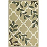Maples Rugs Kitchen Vera 2'6 x 3'10 Non Skid Washable Throw Rugs [Made in USA] for Entryway and Bedroom, Neutral