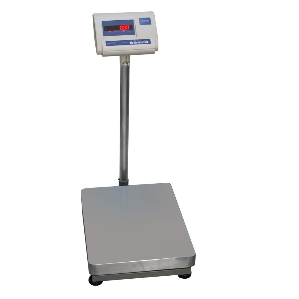 150kg//300kg Platform Postal Postage Parcel Shipping Weighing Warehouse Scales with Extendable Display Cable for Luggage Ausla Post Office Scale