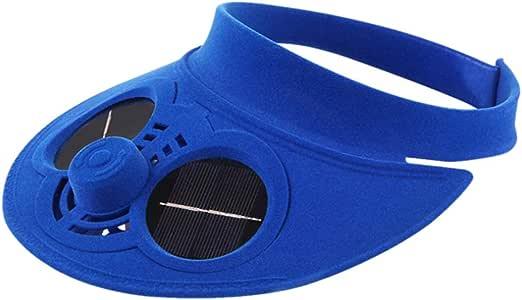 XQxiqi689sy - Gorro de béisbol con energía Solar y Ventilador de refrigeración para Hombre y Mujer, Mujer, Azul, Talla única: Amazon.es: Deportes y aire libre