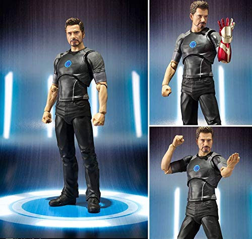 - PAPIN Tony Stark Action Figure 6 inch Hot Toys Comic Legends Figures Christmas Halloween Mini Small Toy Birthday Collectable Gift Collectibles Big Large Collectible Gifts for Little Kids Baby Boys