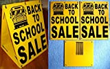1 Pc Classical Popular Back to School Sale Sign Store Message Plastic Coroplast Window Notice Size 18