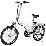 Onway 20 Inch 6 Speed Folding Electric Bicycle, 36V 250W Aluminium Alloy E Bike with