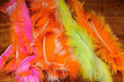 - CROSSCUT TWO TONE RABBIT STRIPS HOT ORANGE TIPPED FL HOT PINK