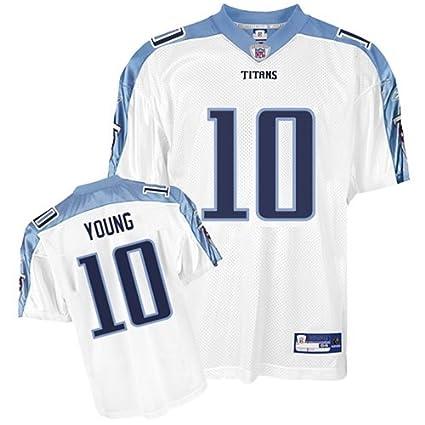 27b241c0b7e5 Amazon.com   Mens Reebok Tennessee Titans Vince Young  10 Jersey ...