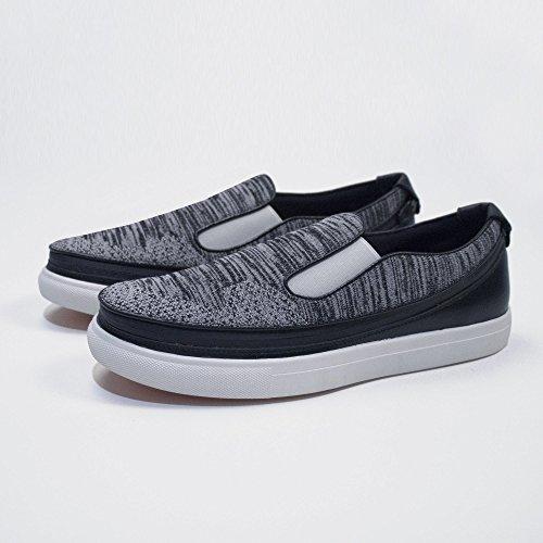 ACBC Scarpa Sneakers Knit Suola Bianca e Scarpa Grigio con Zip