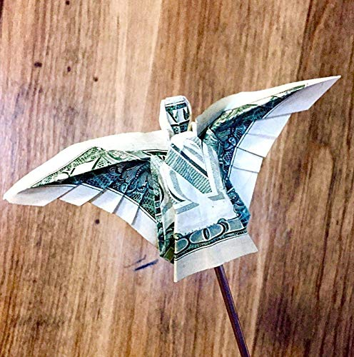 Dollar bill Money origami angel Christmas ornament Stocking Stuffer novelty token Gift