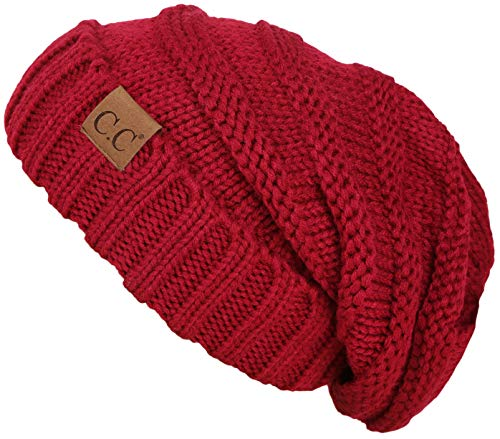 - H-6100-42 Oversized Slouchy Beanie - Red
