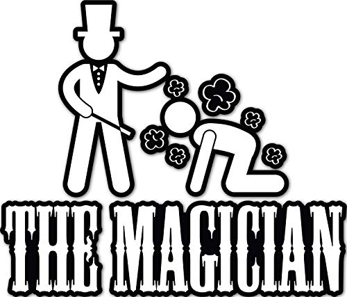 4 All Times The Magician Automotive Car Decal for Cars, Trucks, Laptops (24.0