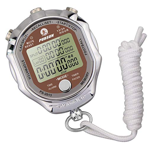 Professional Stopwatch - LAOPAO Melt Stopwatch, 1/1000th Second 200 Lap Memory, Clock Daily Rainproof Digital Timer for Sports Match, Competition, Coach, Referee, Training, Timing