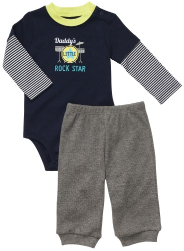 Daddy's Little Rock Star Clothing Set for Baby Boys