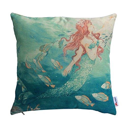 Monkeysell Mermaid Painting Decoration Cushion