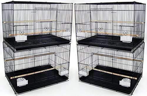 """Mcage Lot of Breeding Bird Flight Cages for Canary Parakeet Aviaries Budgies Lovebird Finch (Large 30"""" Black) from Mcage"""