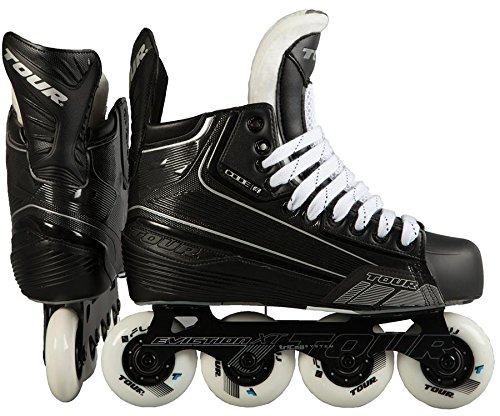 (Tour Code 5 Senior Inline Hockey Skates Size: 8 Black)