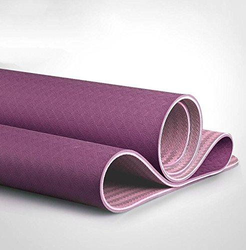 YOOMAT Professionelle Yoga Matte verbreitert 66 cm TPE Yogamatte für Männer und Frauen