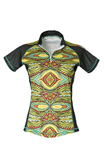 Bold Babe Women's Sun Protective Short Sleeve Cycling Jersey - SPF Clothing Perfect for Enjoying The Outdoors - Girl Power (X-Large) ()