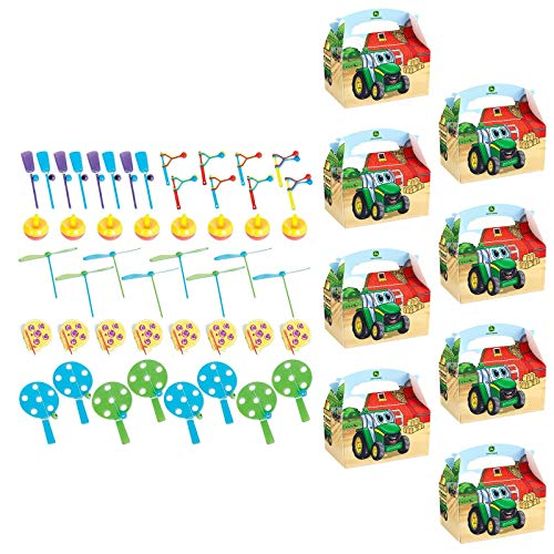 BirthdayExpress John Deere Johnny Tractor Filled Favor Boxes(for 8 Guests) -