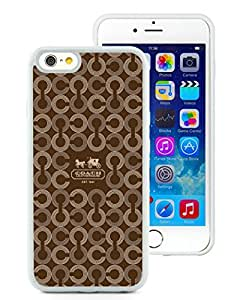 Genuine Coach 26 White Iphone 6 4.7 inches Screen TPU Phone Case Charming and Grace Design