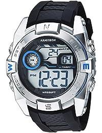 Men's 40/8380BLU Blue Accented Digital Chronograph Black Resin Strap Watch