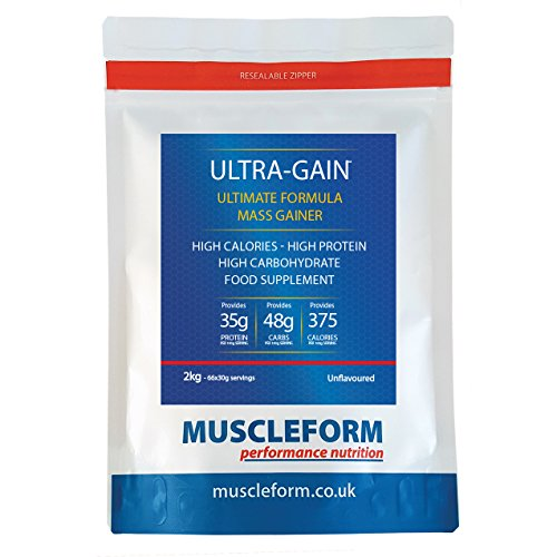 ULTRA-GAIN Mass Gain & Weight Gain Powder 2kg Re-Sealable Pouch - Fast Delivery by Muscleform by Muscleform
