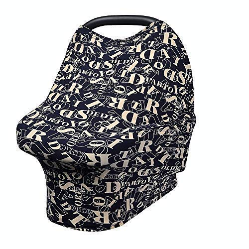 Nicoles Simple Things - Premium Soft, Stretchy, and Breathable 4 in 1 Multi-Use Cover for Nursing, Baby Car Seat, Stroller, Scarf, and Shopping Cart