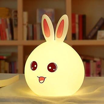 Mignon Lapin Table Bébé Lampe Nuit Led De Ousenr Enfant Veilleuse POZXiuk