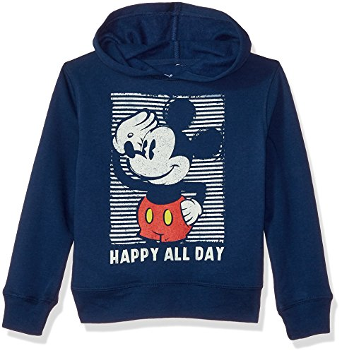 Disney Boys' Toddler' Mickey Mouse Pullover Fleece, Happy, 4T