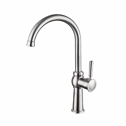 WAWZJ Kitchen Faucet Stainless Steel Flume Head European ...