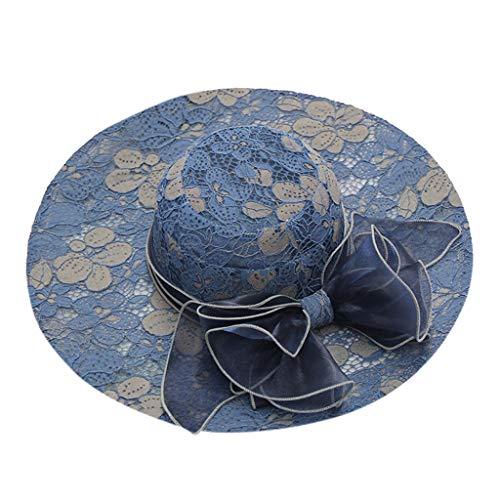 hositor Kentucky Derby Hats for Women, Women's Organza Church Kentucky Derby Fascinator Bridal Tea Party Wedding Hat Navy