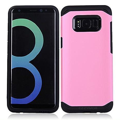 de doble capa de goma TPU y policarbonato Carcasa para Samsung Galaxy S8 y S8 Plus a prueba de impactos EZZYMOB/® resistente h/íbrida