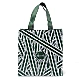 HARRODS GREEN STRIPES PVC TOTE BAG (M), Unisex Top-handle Shoulder Shopping Carrier - BEST GIFT ITEM