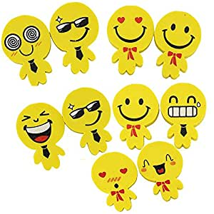 Pshine 30pcs Creative Wacky Smiling Face Pencil Eraser