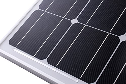 Komaes-100-Watts-12-Volts-Monocrystalline-Solar-Starter-Kit-with-20A-PWM-Charge-Controller-20ft-Tray-Cable-20ft-MC4-Connectors-Mounting-Z-Brackets