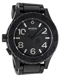 Nixon Men's NXA236000 Classic Analog with Tide display Black Dial Watch