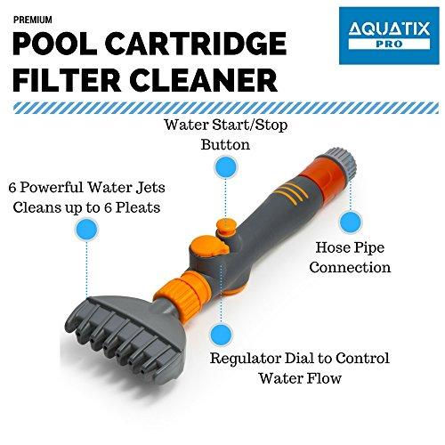Aquatix Pro Premium Pool Amp Spa Filter Cartridge Cleaner