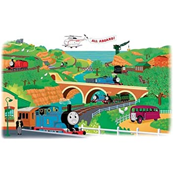 Exceptional Roommates Rmk1081Gm Thomas And Friends Peel U0026 Stick Giant Wall Decal