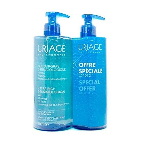 Uriage gel Surgras Dermatologique 500ml Pack offerta 2x 1, 500ml + 500ml