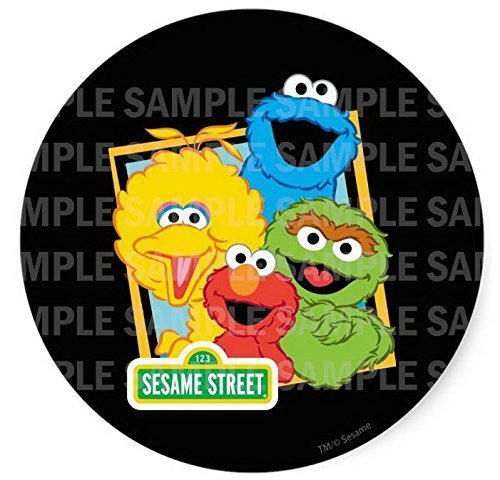 Sesame Street Elmo Big Bird Cookie Monster Oscar Birthday Edible Image Photo 8