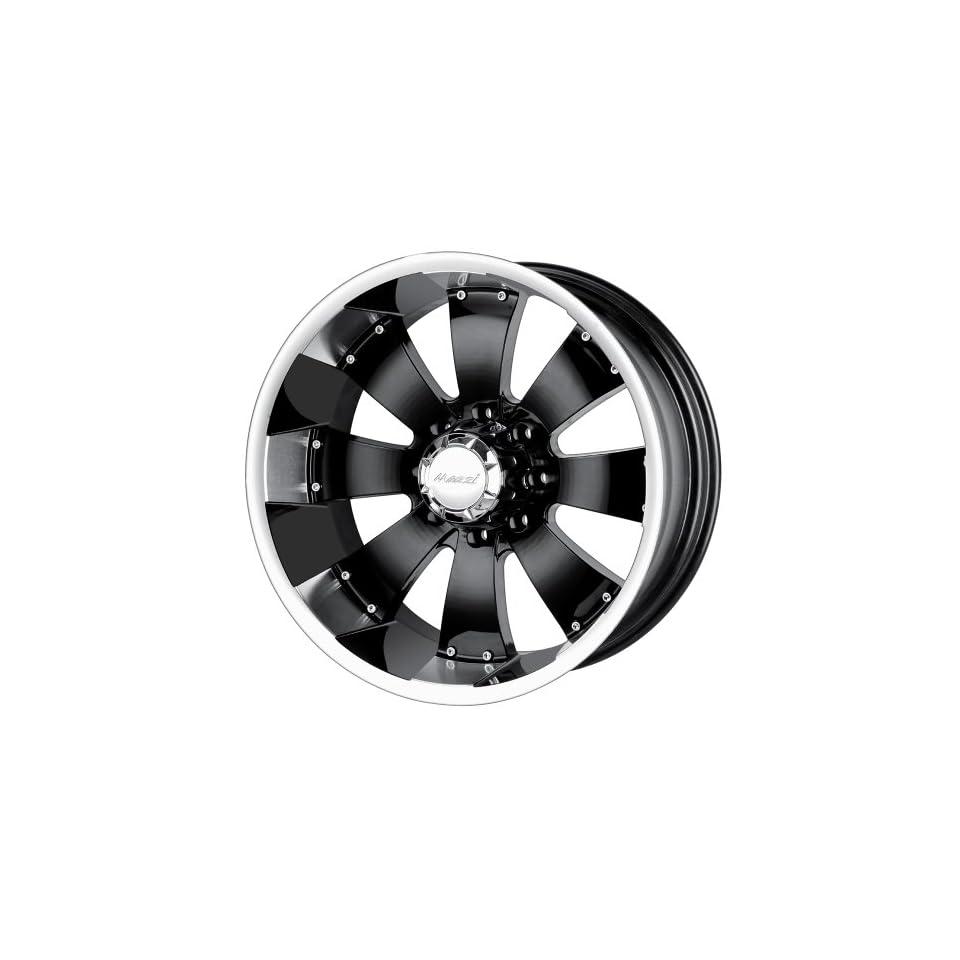17x10 Mazzi Hulk (755) (Black w/ Machined Lip) Wheels/Rims 8x165.1