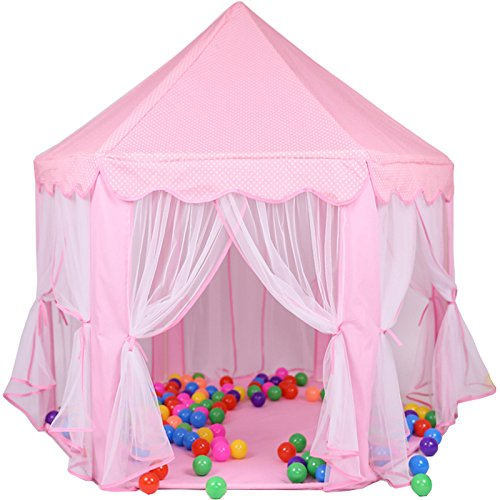 Kid Indoor Princess Castle Play Tent,PortableFun Outdoor Large Playhouse 55