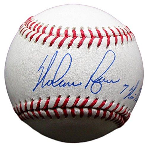 Nolan Ryan Signed Rawlings MLB Baseball Inscribed 7-No Hitters BAS+Ryan (Nolan Ryan Hand Signed Baseball)