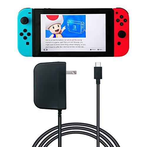 AC Adapter for Nintendo Switch - 5 FT (SUPPORT TV MODE)