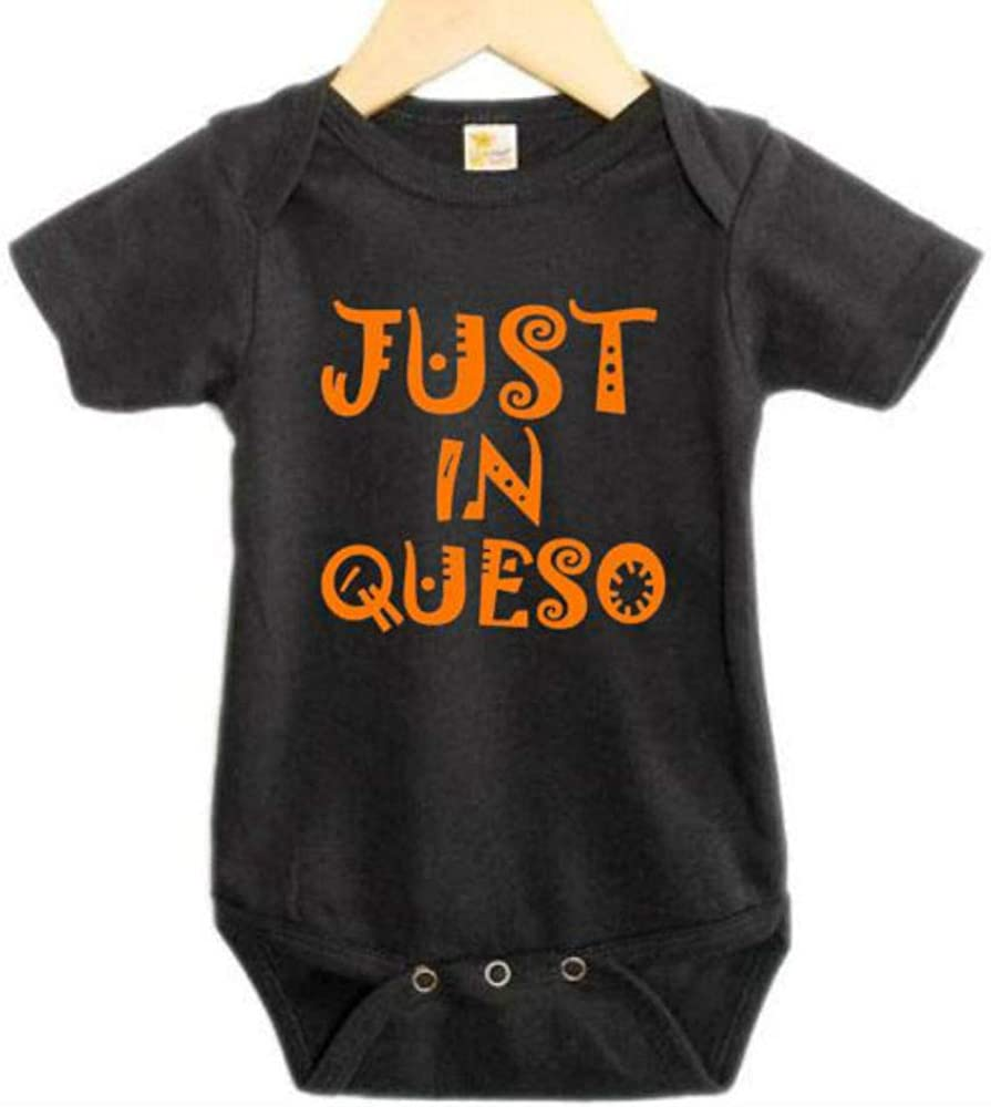 Just in Queso/Funny Baby Onesie/Newborn Taco Outfit/Mexican Food Bodysuit