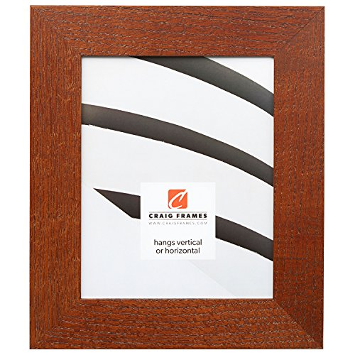 Craig Frames 80598921 8.5 by 11-Inch Picture Frame, Wood Grain Finish, 2-Inch Wide, Brown Oak