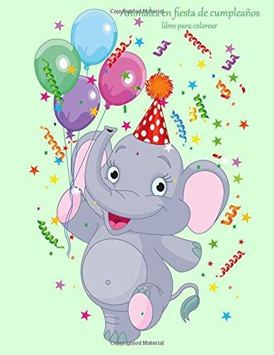 Animales en fiesta de cumpleaños libro para colorear 1 ...