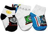 Thomas and Friends Blue Brown and Green Engine Sock Set (3 Pairs Size 2-4)