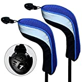 Andux 2pcs Set Golf Hybrid Club Head Covers With Interchangeable No. Tag Pack of 2