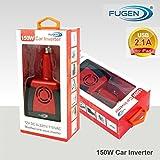 Fugen 12V DC to 220V AC + USB 5V 2.1a 150W Car Inverter |Adapter | Charger for all portable devices - Mobile, Kindle, Laptop, Macbook, Mac, Printer, Camera, Tablet, Fan